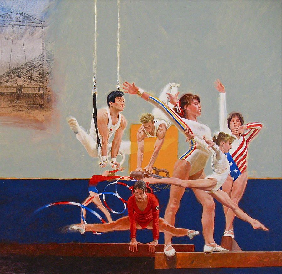 Gymnastics by Cliff Spohn famous Olympic gymnasts on