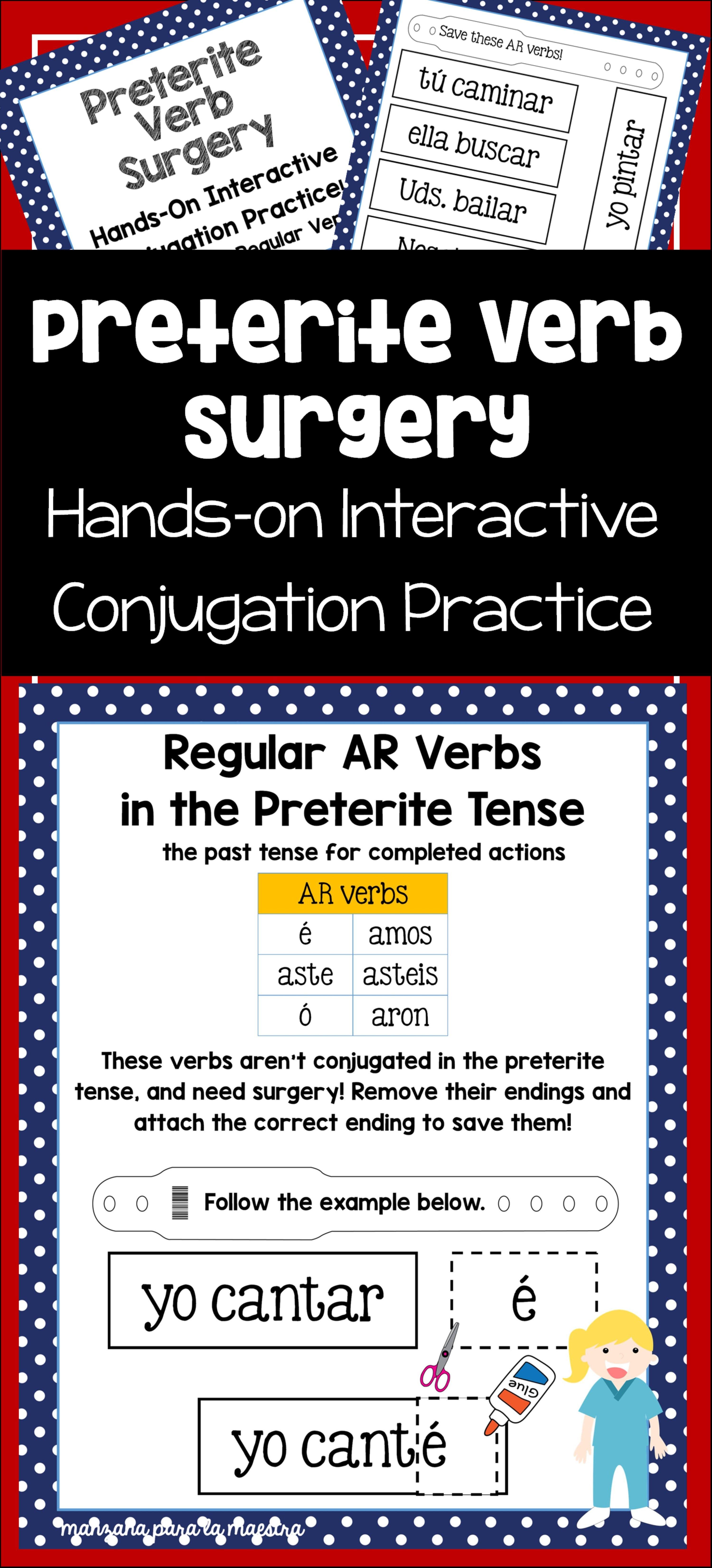 worksheet Regular Preterite Worksheet preterite tense interactive worksheet regular arerir verb surgery