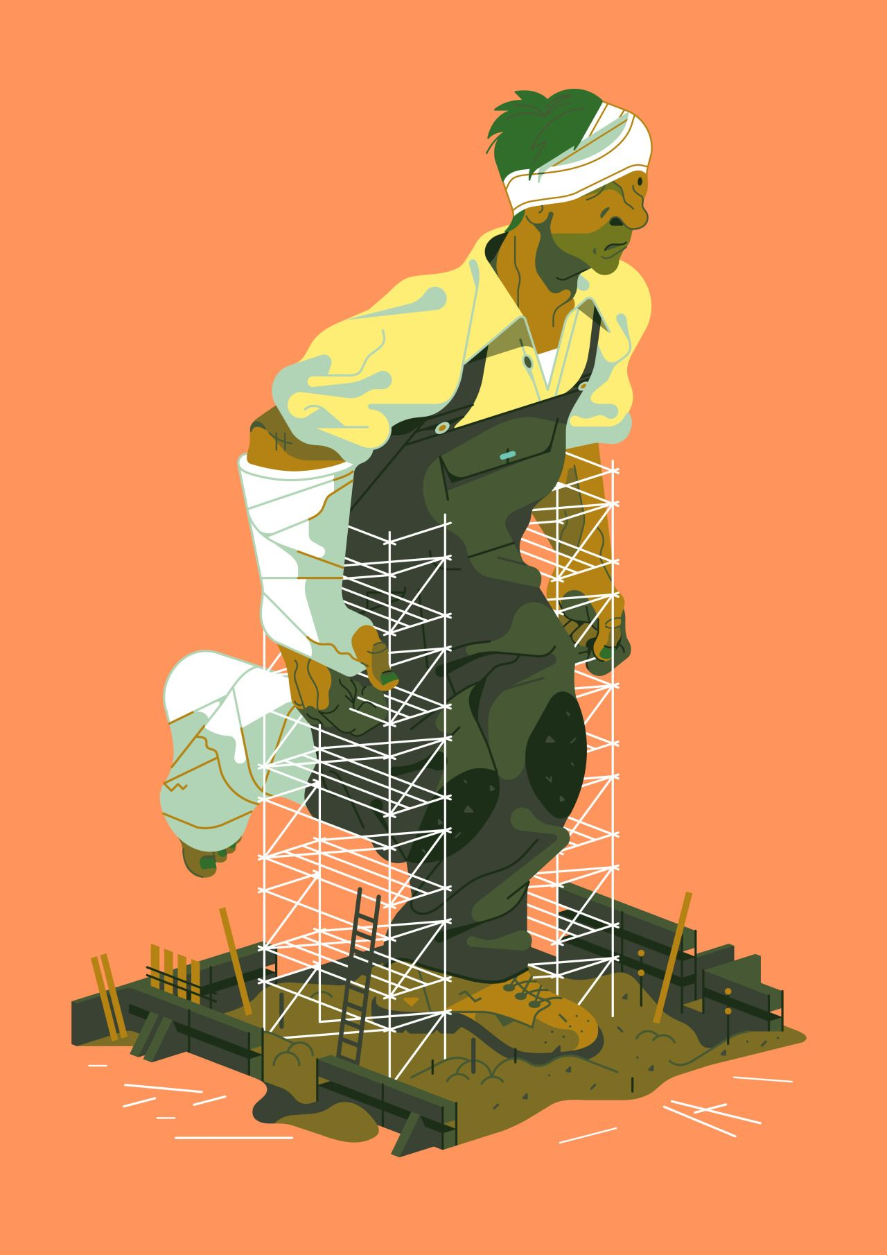"kolchoz ""Scaffold Safety / Grainger "" Poster"