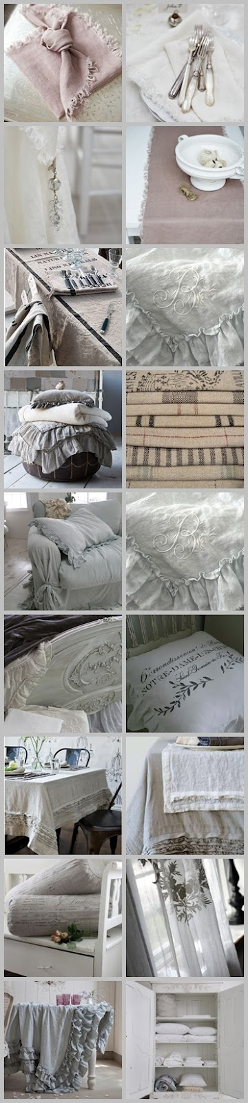 linen collection vintage pinterest leinen farben und shabby chic. Black Bedroom Furniture Sets. Home Design Ideas