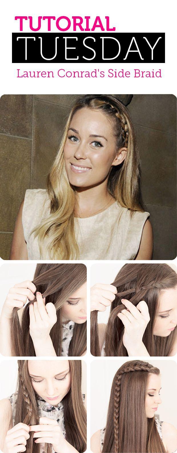 Tutorial Tuesday: Lauren Conrad's Side Braid | TheBeautyPlace Blog # side Braids lauren conrad Tutorial Tuesday: Lauren Conrad's Side Braid #laurenconradhair