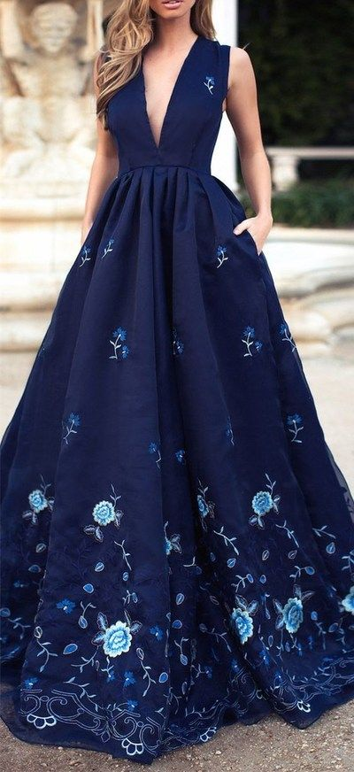 8774fed0a2 2016 Custom Charming Navy Blue Prom Dress