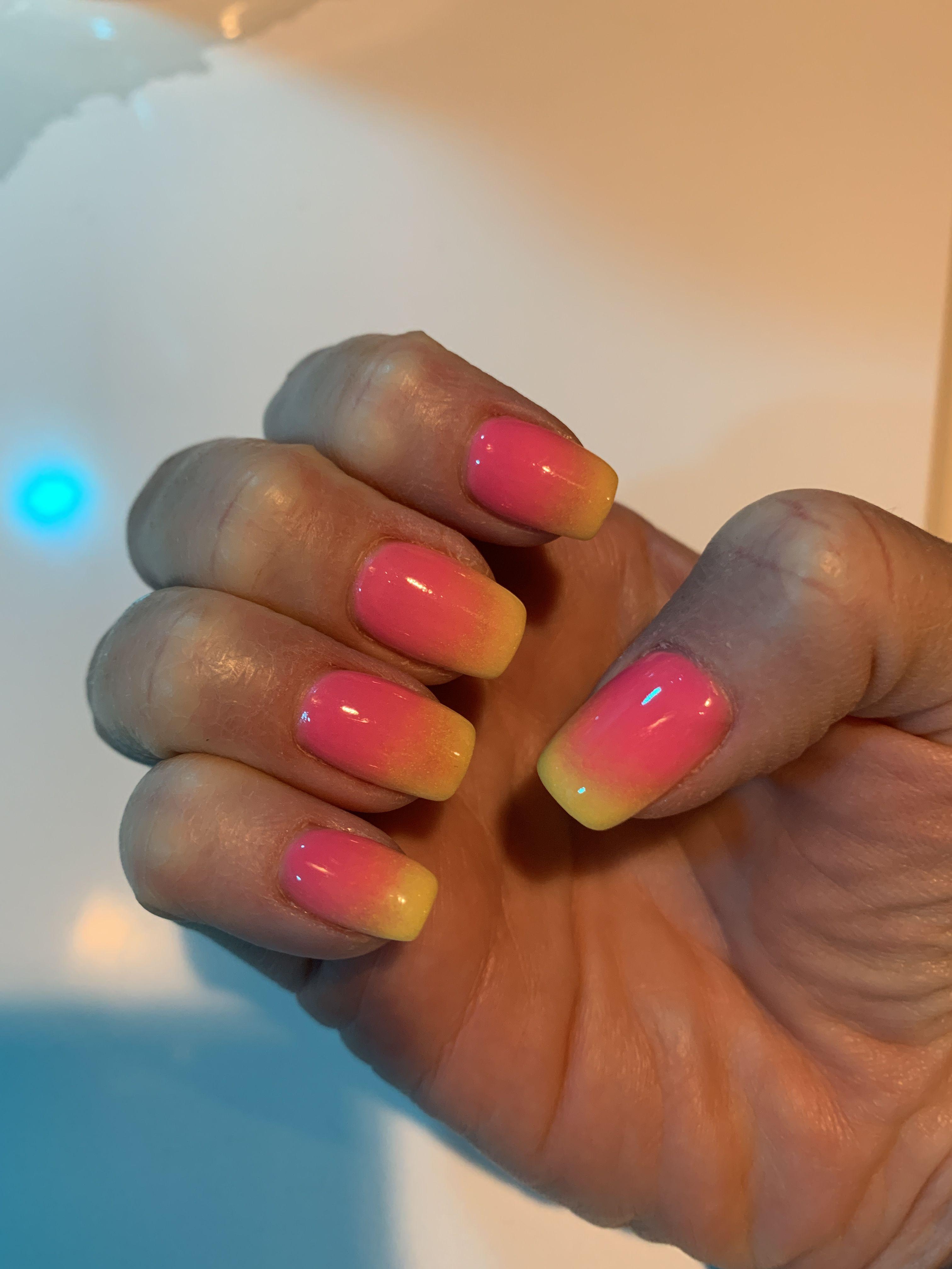 Summer time ombré nails .. SNS.