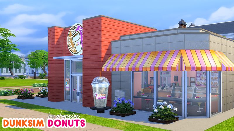 dunkin donuts in Sims 4! Sims Pinterest Sims, Donuts
