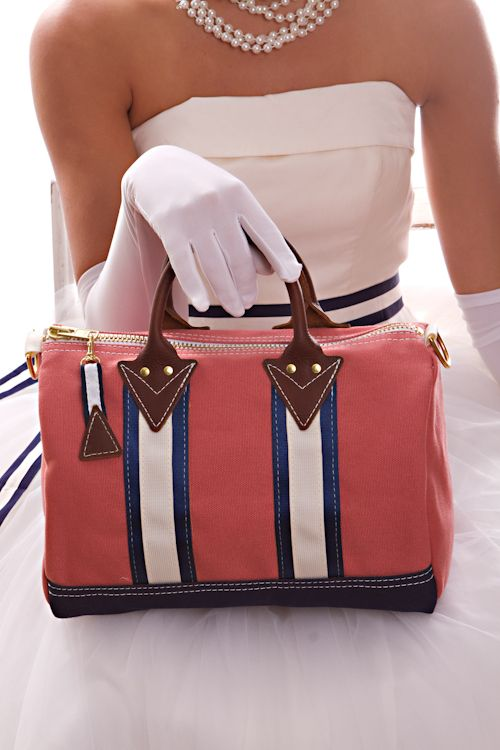 love this preppy durable goods bag from Social Primer!