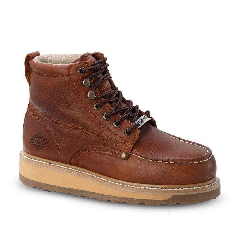 Bonanza Ba 612 Mens Light Brown 6 Quot Lace Up Mocc Toe Work Boots Clothing Shoes Amp Accessories Men Botas De Trabajo Zapatos Hombre Moda Botas Hombre