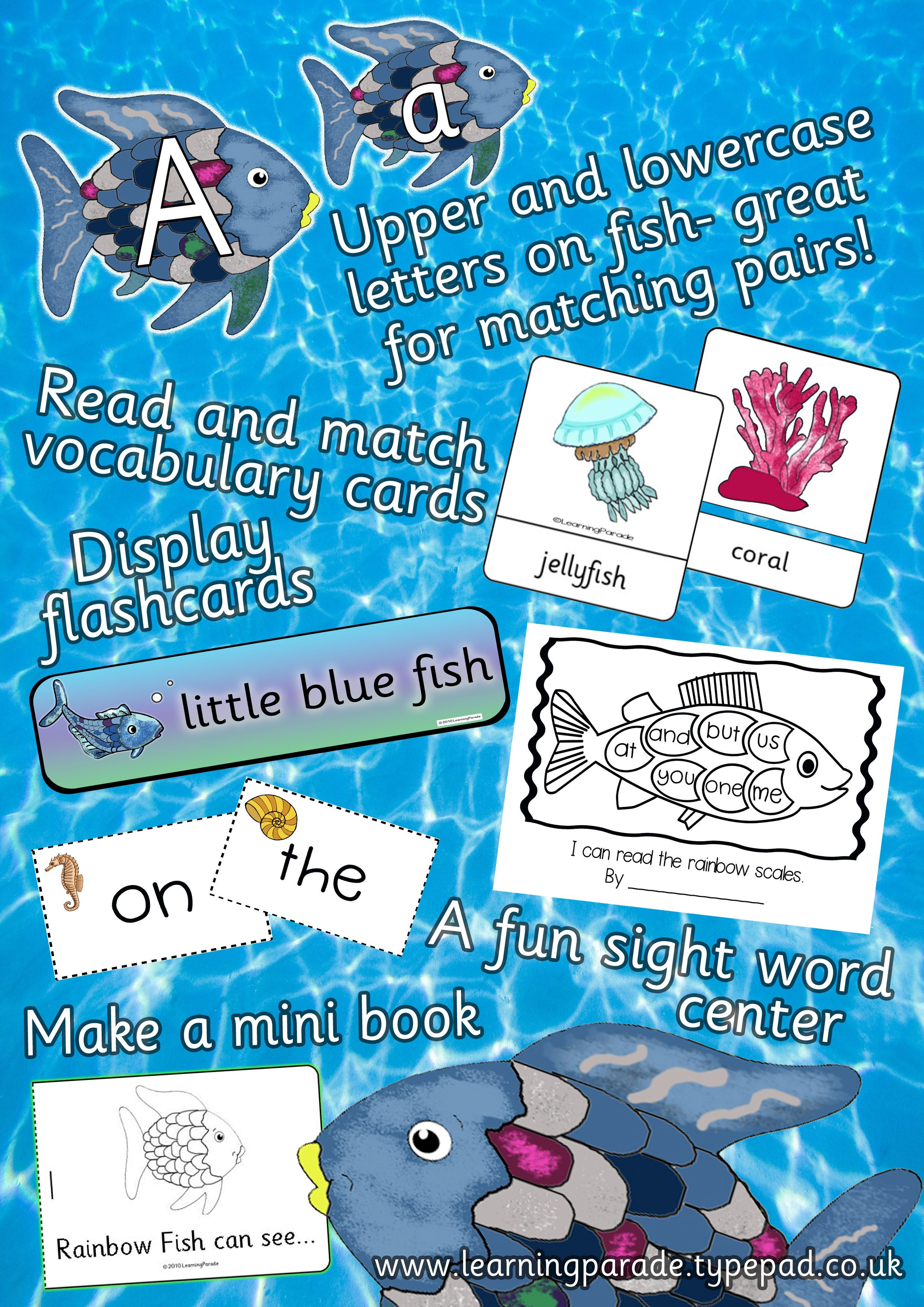 Some Of The Literacy Activities And Teaching Resources Included In Our Rainbow Fish Book