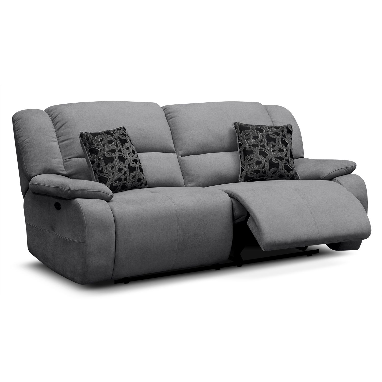 Destin Gray Power Reclining Sofa