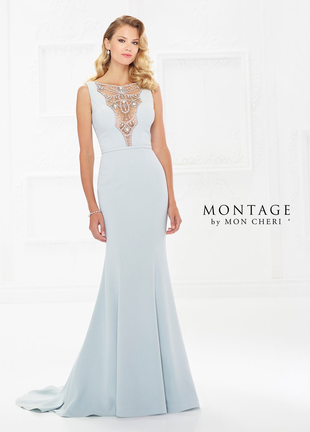 Mon cheri wedding dresses  Montage by Mon Cheri  BateauNeck Formal Gown  Mother of