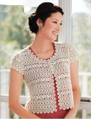 Crochet bolero shrug pattern only diagrams pdf | Pinterest