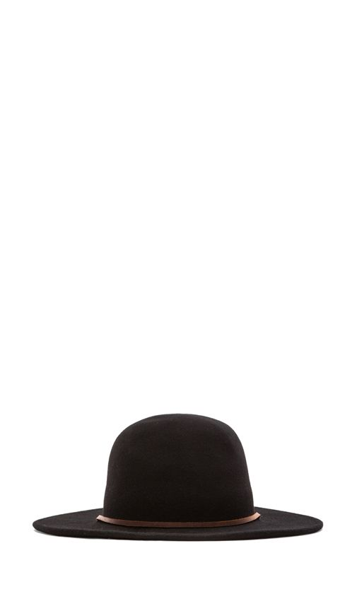1e4c72e7583 Brixton Tiller Wide Brim Hat in Black
