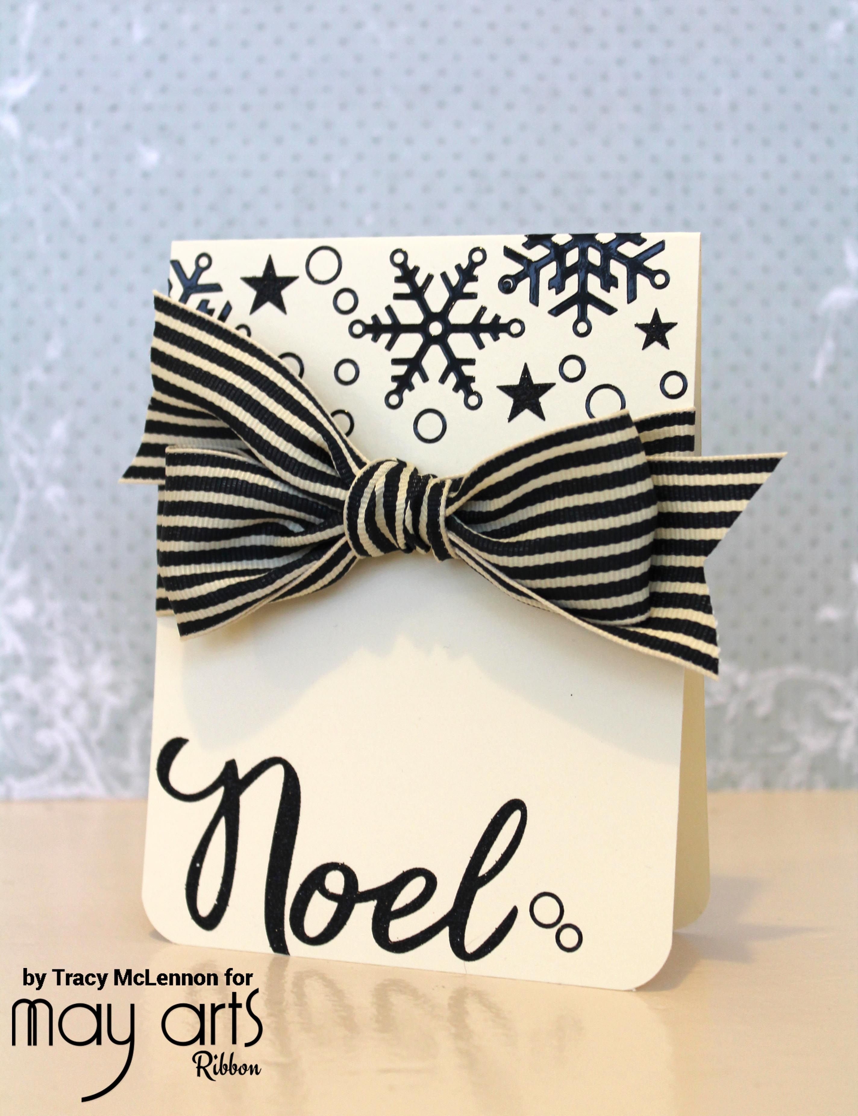 Card Making Ideas With Ribbon Part - 34: Christmas Crafting With Ribbon - Card Making