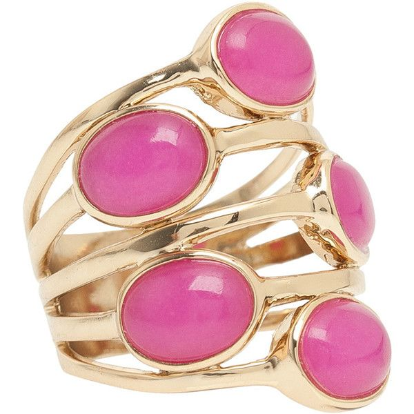 ISHARYA Gypsy Multi Stone Ring found on Polyvore