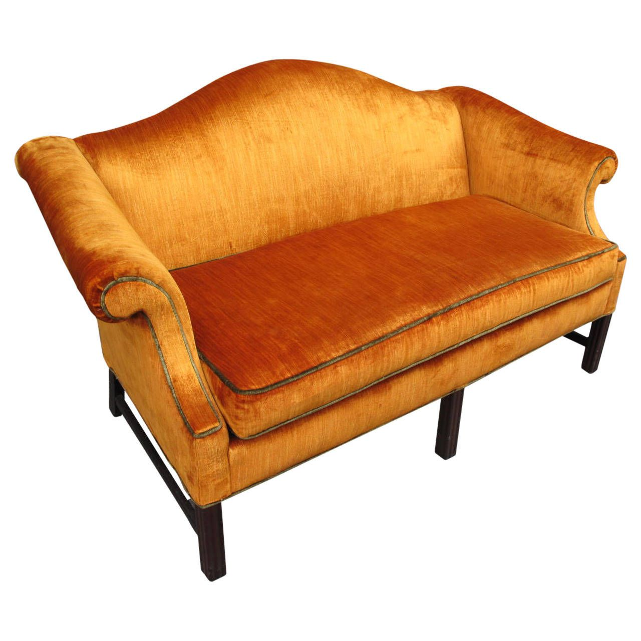 Panne Velvet Upholstered Sofa From A Unique Collection Of Antique And Modern Sofas At Https Www 1stdibs Com Furniture Seating S Vintage Sofa Sofa Upholster