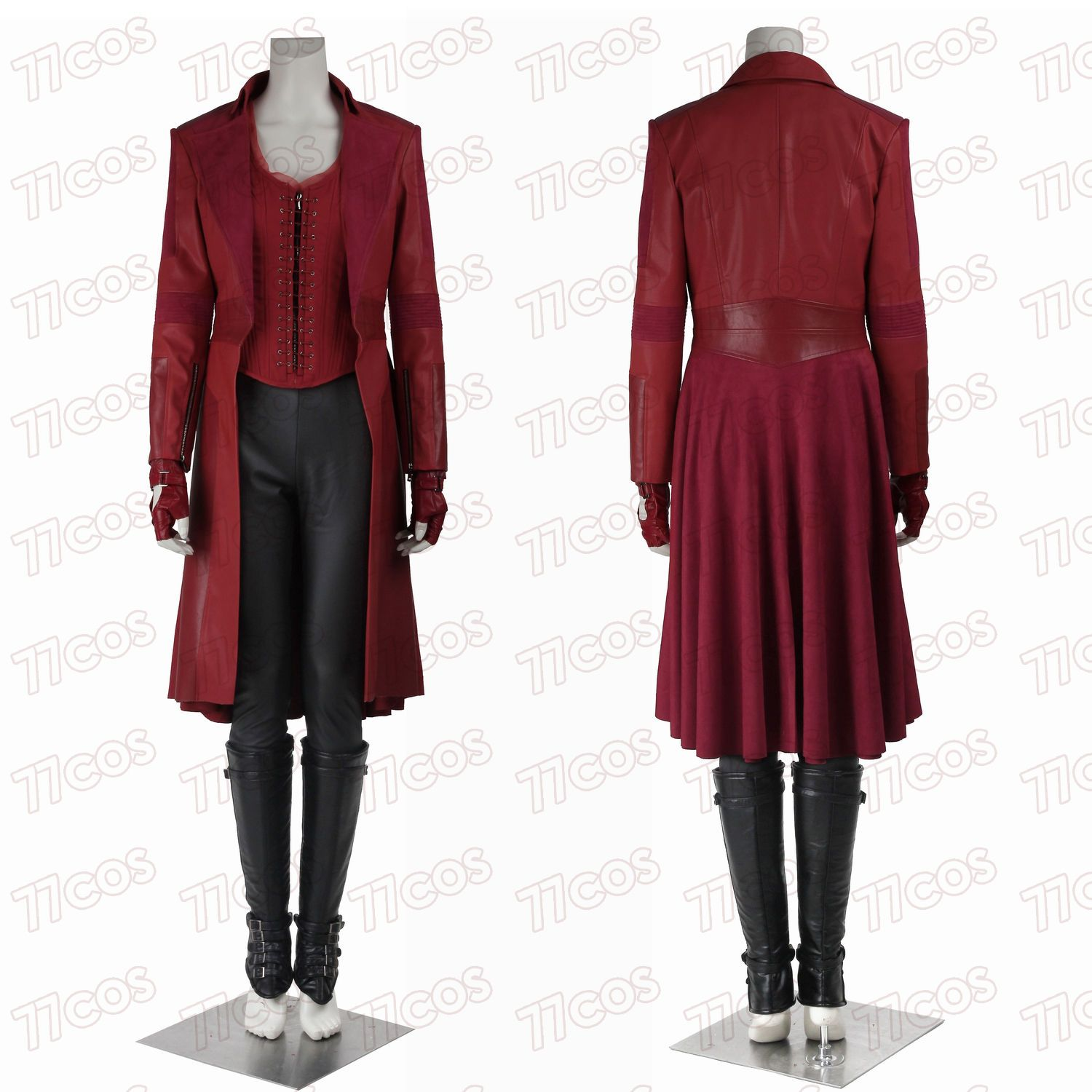 Captain America Civil War Scarlet Witch Cosplay Costume Full Set