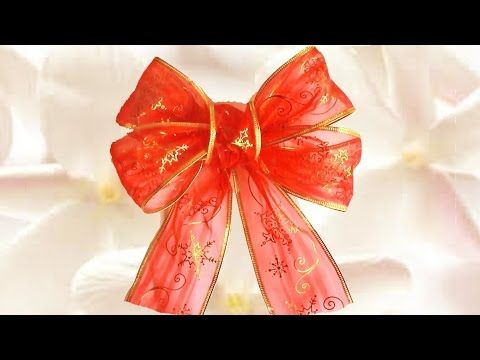 Diy Moños Flores Y Lazos De Navidad En Cintas Ribbons And Bows Christmas Flowers Youtu Cómo Hacer Moños Navideños Como Hacer Lazos Como Hacer Moños Faciles