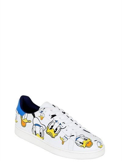 MOA MASTER OF ARTS DONALD DUCK PRINTED LEATHER SNEAKER NHrRyKh