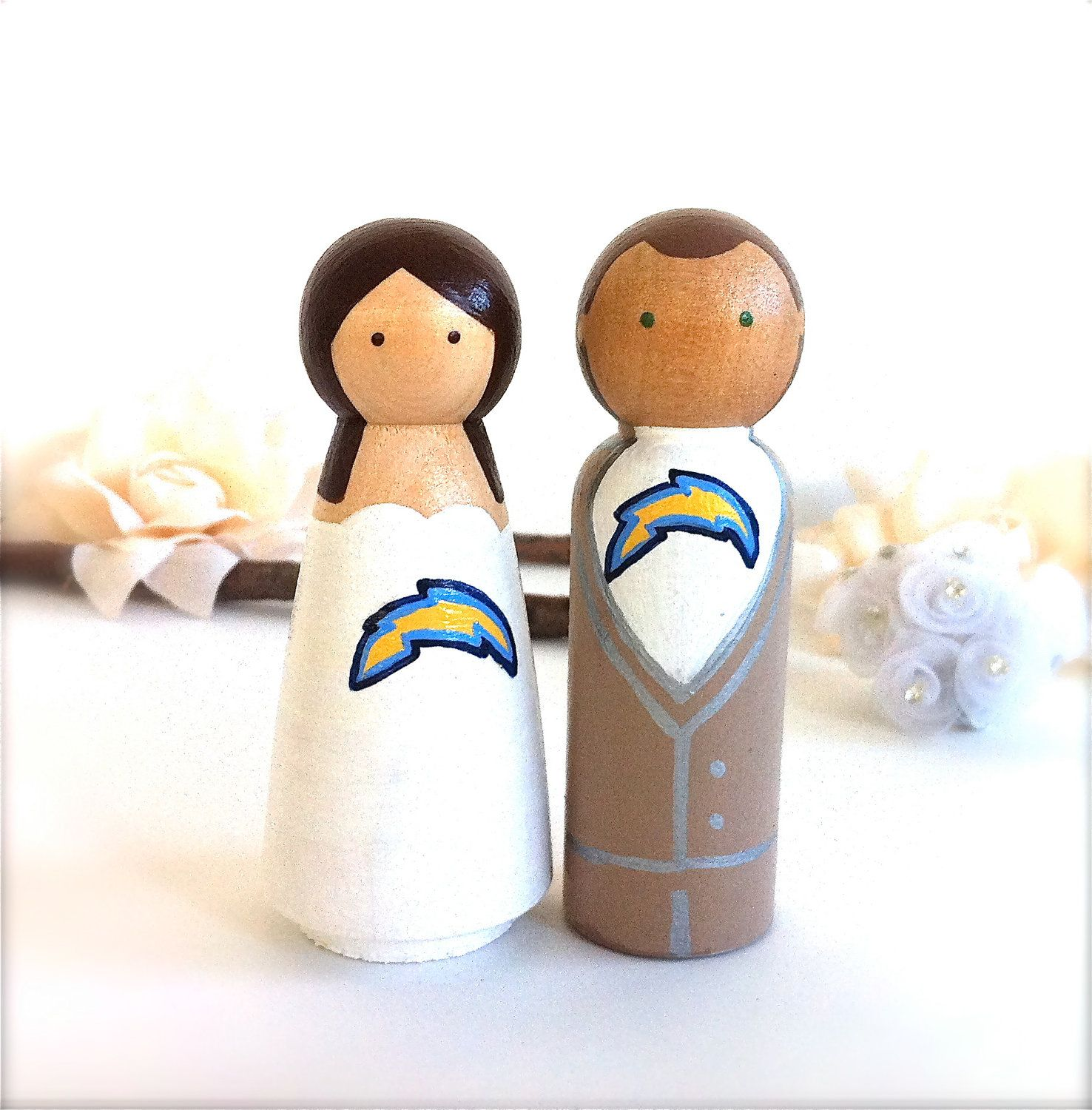 San Diego Chargers or Any Sport Logo Wedding Cake Toppers Sports ...