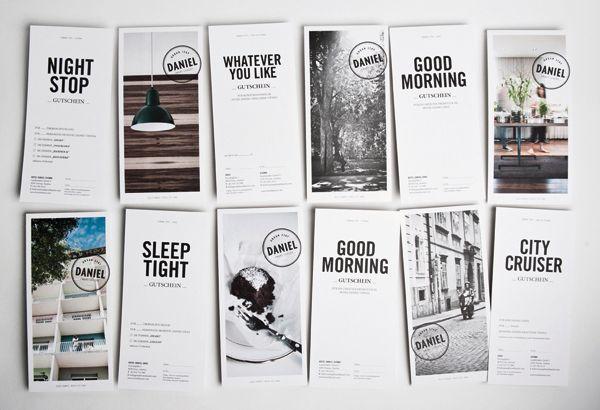 Hotel Daniel designed by Moodley #branding #identity #stationery #brochure #cards #postcards