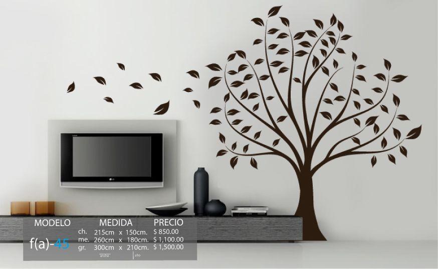 Vinilo 3 14 vinilos decorativos arboles rbol hojas for Vinilos decorativos arboles