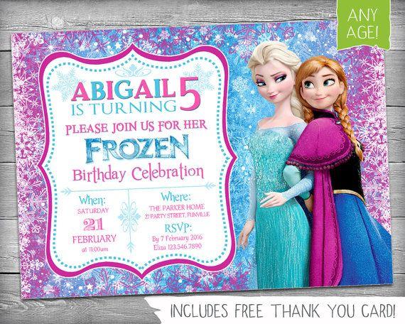 Congelado de invitación de cumpleaños Congelado por KikimooDesigns - invitation birthday frozen