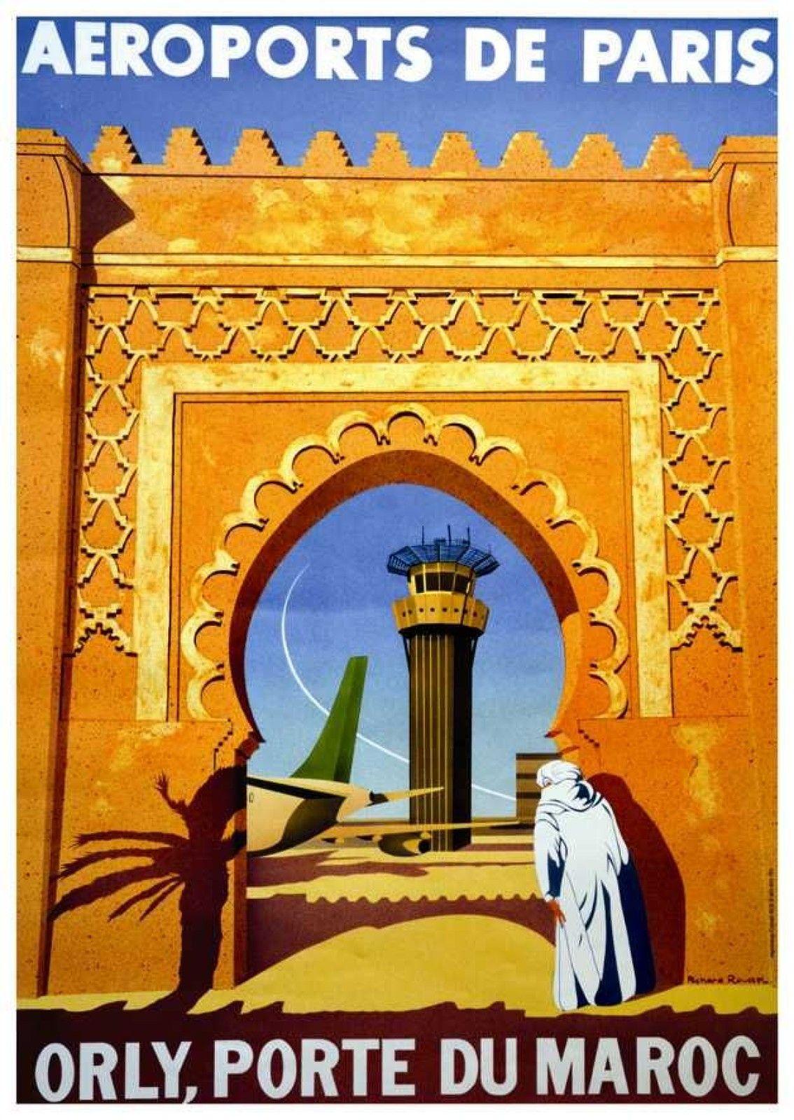 Meknes Ameknas Morocco Bull Horse Tourism Travel Vintage Poster Repro FREE SHIP