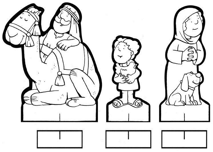 Figuritas recortables del Belen para colorear | Infancia Misionera ...