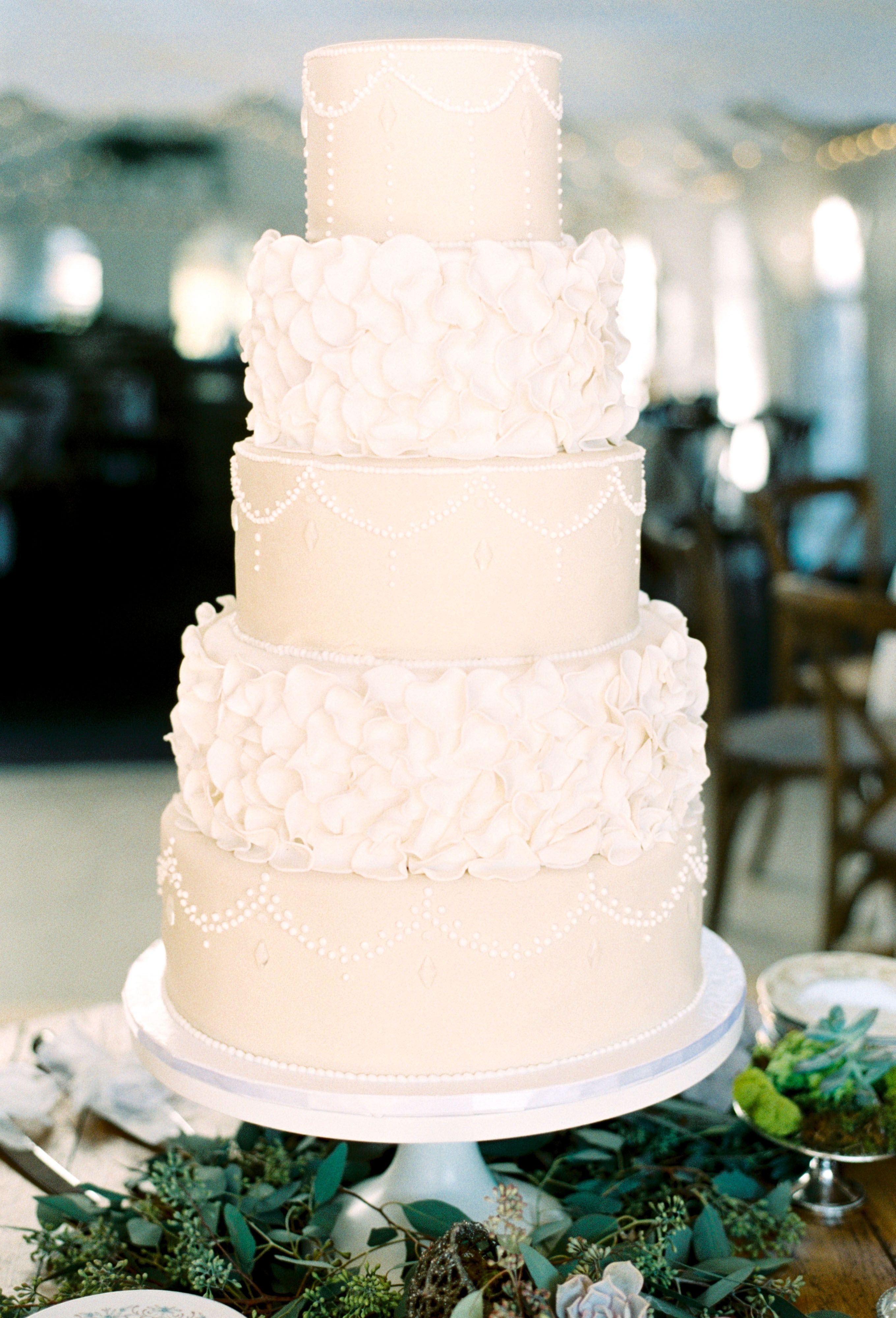 The knot wedding cakes brides