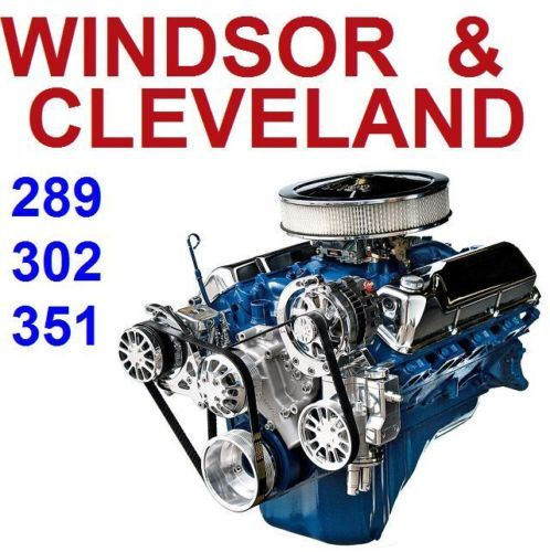 Ford 260 289 302 351 Windsor Cleveland Service Rebuild Repair Workshop Manual V8 Ebay Ford 351 Engineering Ford Trucks