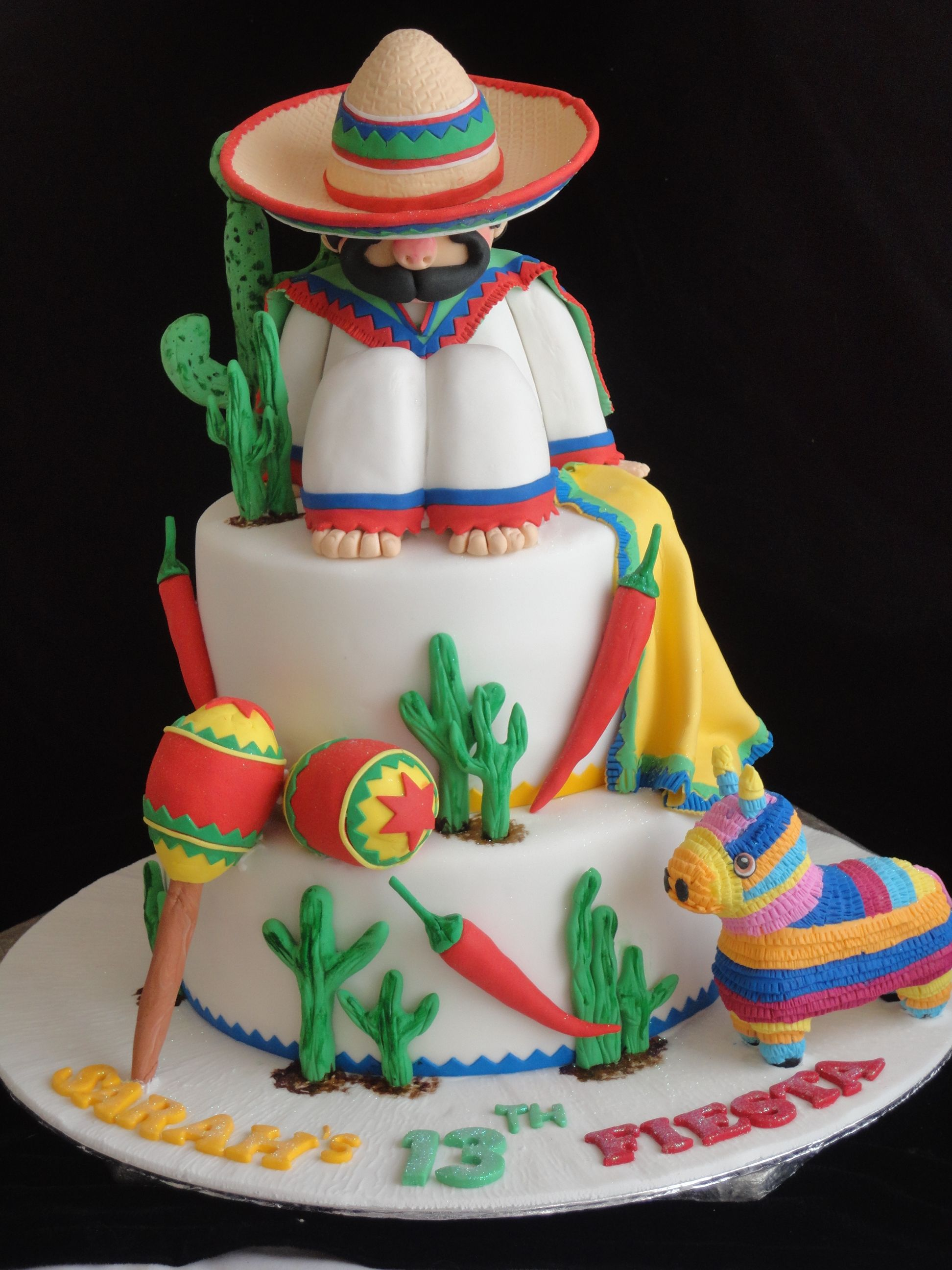mexican themed wedding cake toppers mexican theme cake cinco de mayo entertaining 17284