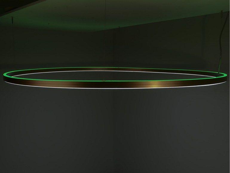 Lampade A Sospensione Led : Lampada a sospensione a led in alluminio e vetro doppio by sattler