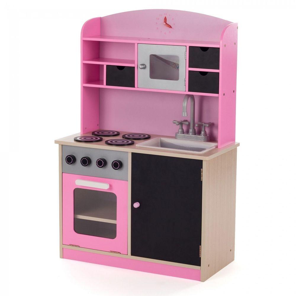 Details zu Kinderküche Spielküche Holz Kinderspielküche Holzküche ...