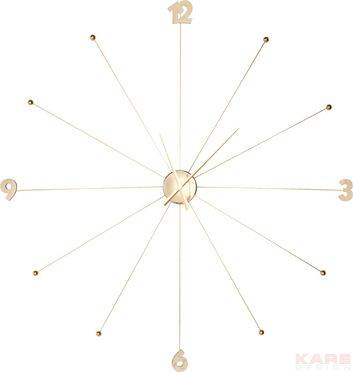 Kare   Wall Clock Like Umbrella Gold Good Ideas