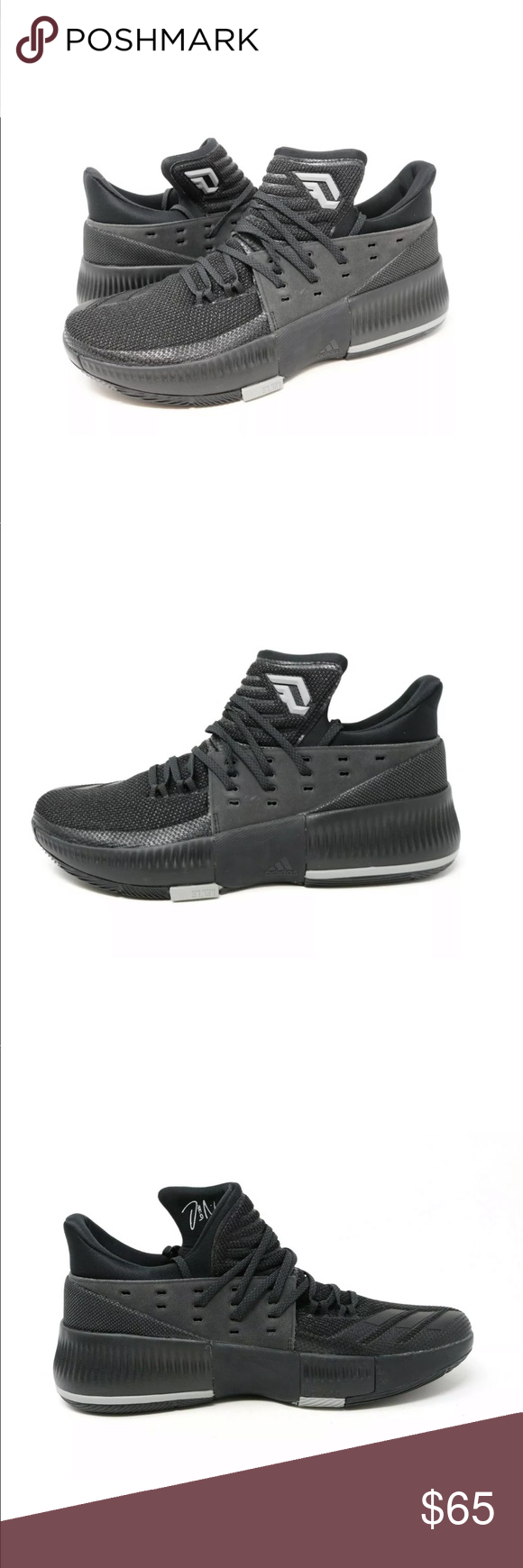 reputable site e79c2 eb500 Adidas Dame 3 D Lillard Basketball Shoe Low BY3206 Adidas Dame 3 D Lillard  Basketball Shoes Low Black. New without box. Please see pictures.