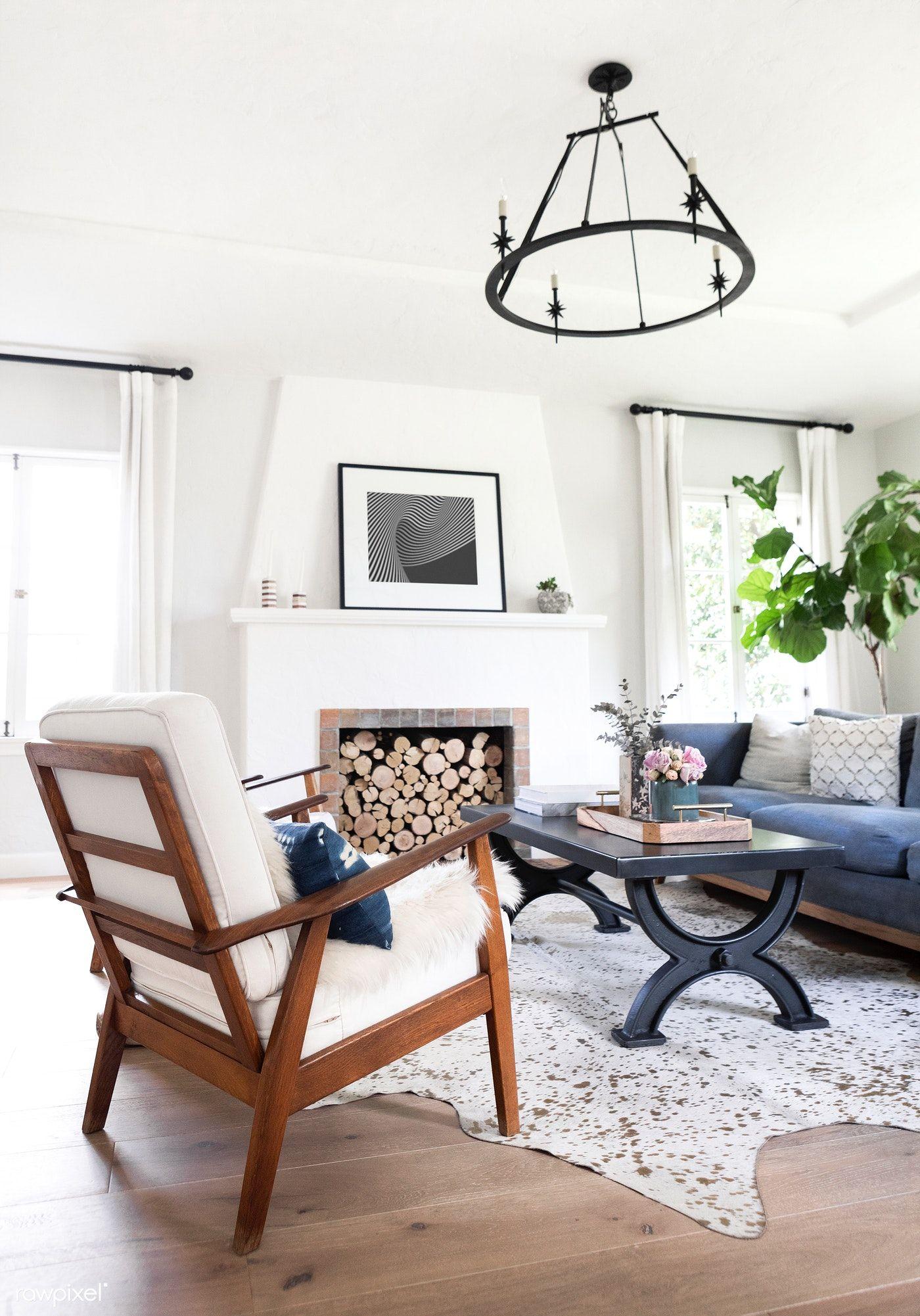 Download Premium Image Of Simple Living Room Interior 1211315 ม ร ปภาพ