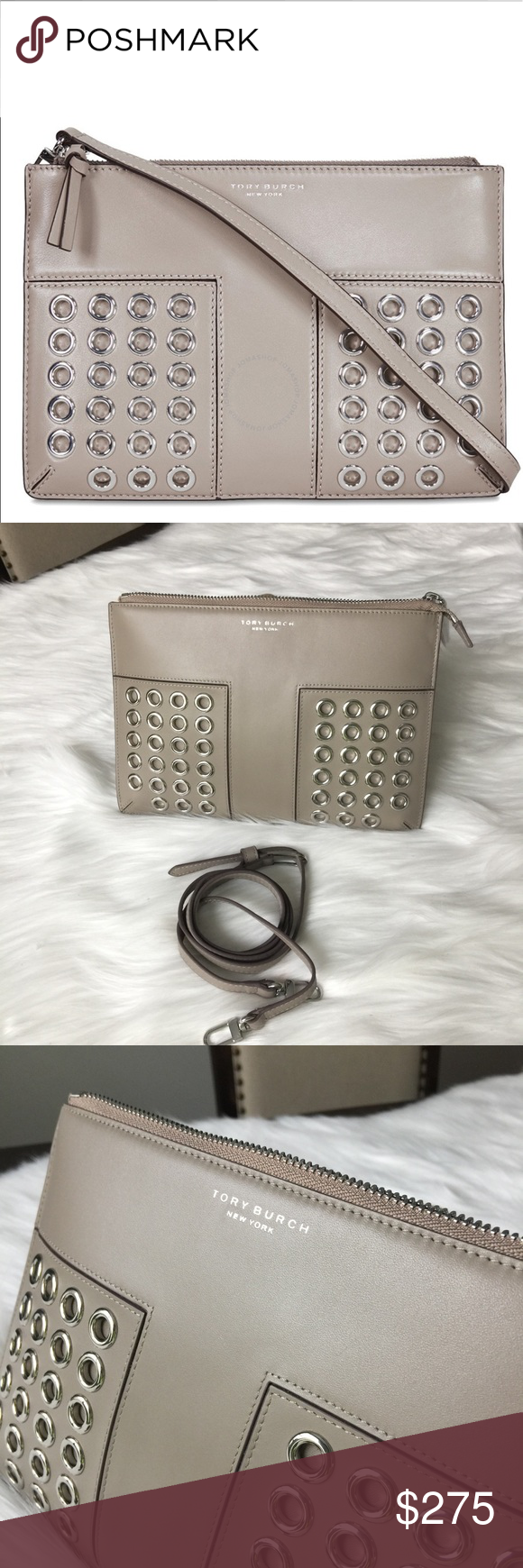 ded0f95a3ecf Tory Burch Block-T Grommet Mini Crossbody Brand new with tag and dust bag.  Still in original packaging. 100% authentic. French gray.