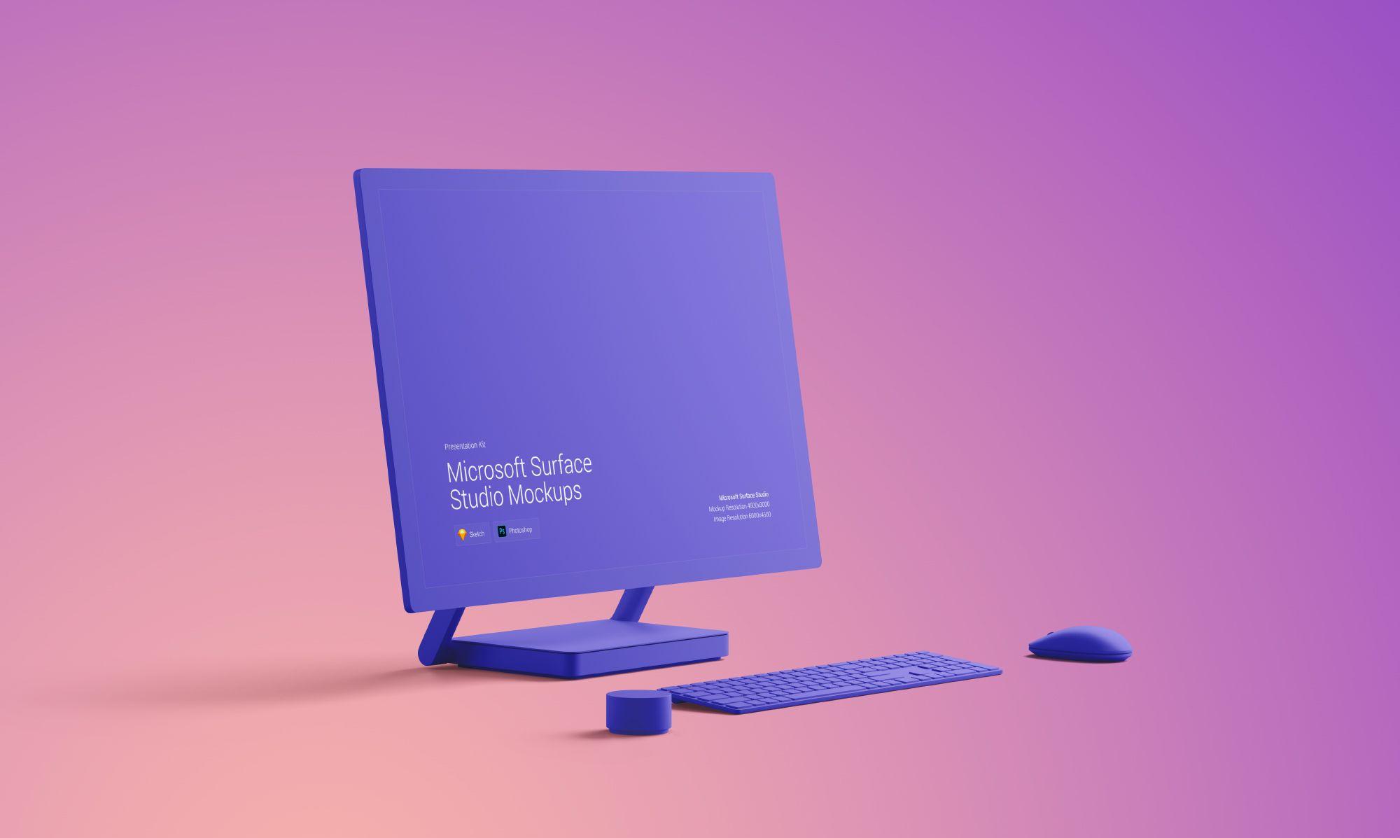 Changeable Color Surface Studio Mockup Iphone Mockup