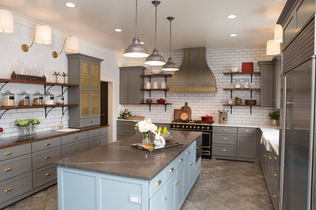 Pre Made Kitchen Islands Fabulous Farmhouse Kitchen Mixed Countertops Kitchen Luxurious Victorian Kitchen Lighting Over Kitchen Sink Collection Of French Co