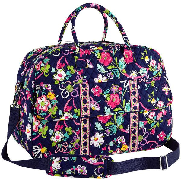 a9c23db27b74 Vera Bradley Ribbons Grand Traveler Bag ( 70) ❤ liked on Polyvore featuring  bags and luggage