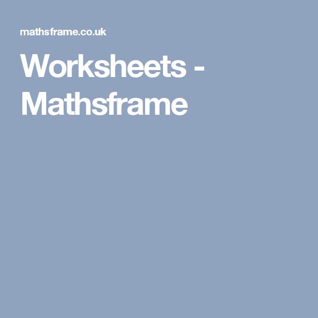 Worksheets - Mathsframe | Maths | Pinterest | Worksheets, Ks2 maths ...
