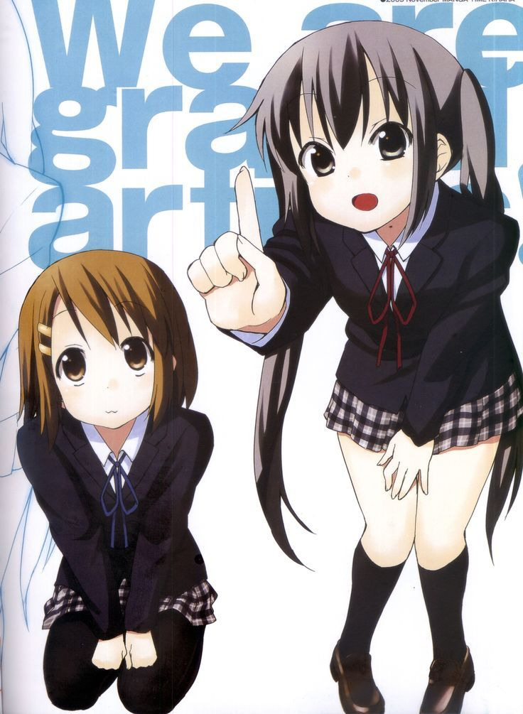 Yui and Azusa Anime music, Kyoto animation, Anime art