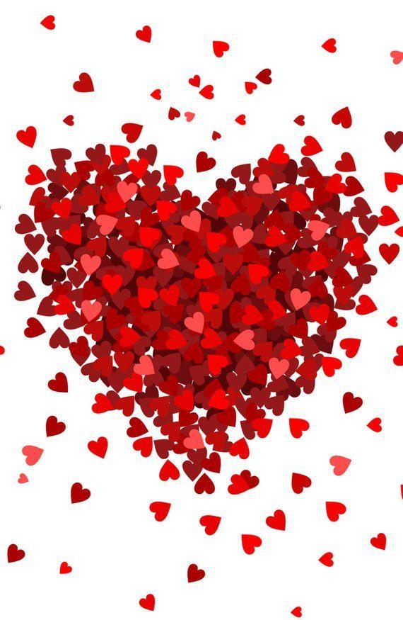 Small Hearts Big Heart Photo Backdrop