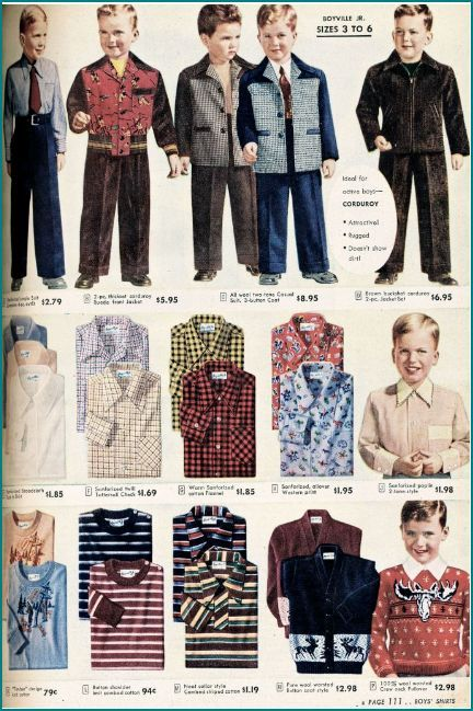 1940's fashion sears catalogue boy wear | Boy fashion, Kids