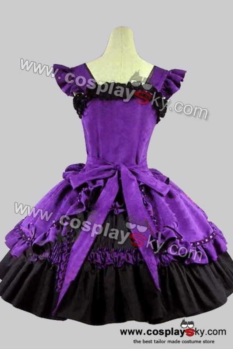 Victorian Gothic Ball Gowns | Victorian Gothic Lolita Cotton Purple ...