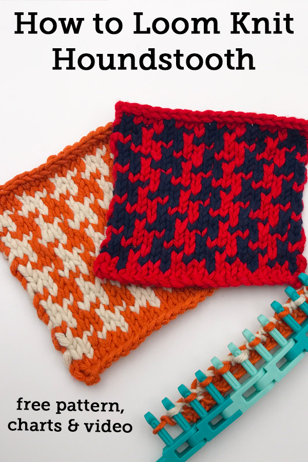 Easy Loom Knit Houndstooth | Free Pattern with Charts and ...