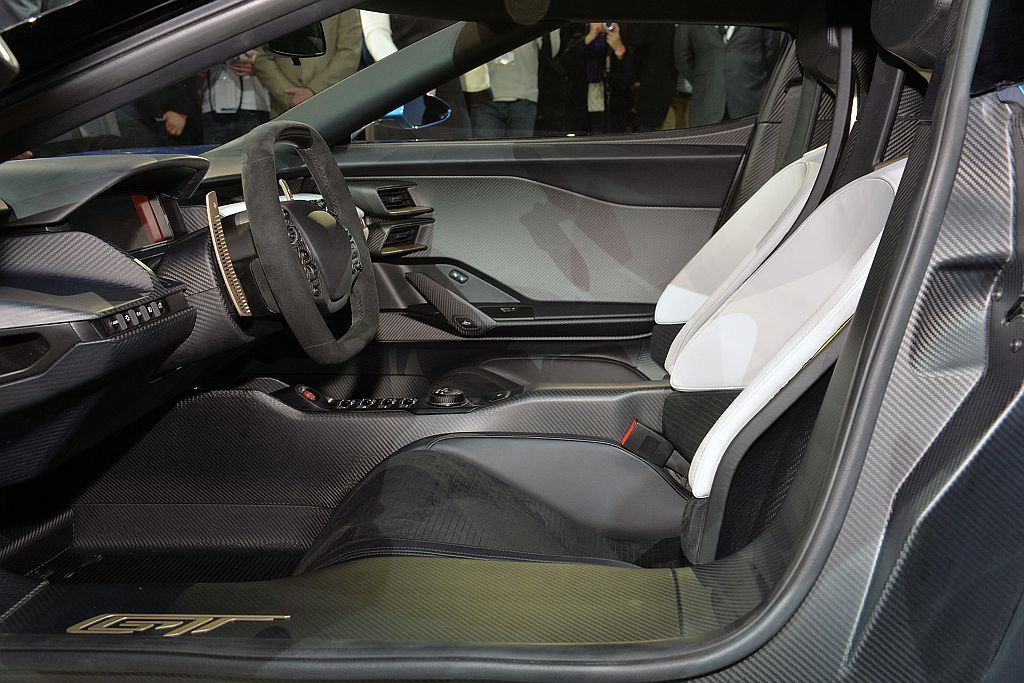 Ford Gt Interior Leather Seats And Steering Wheel
