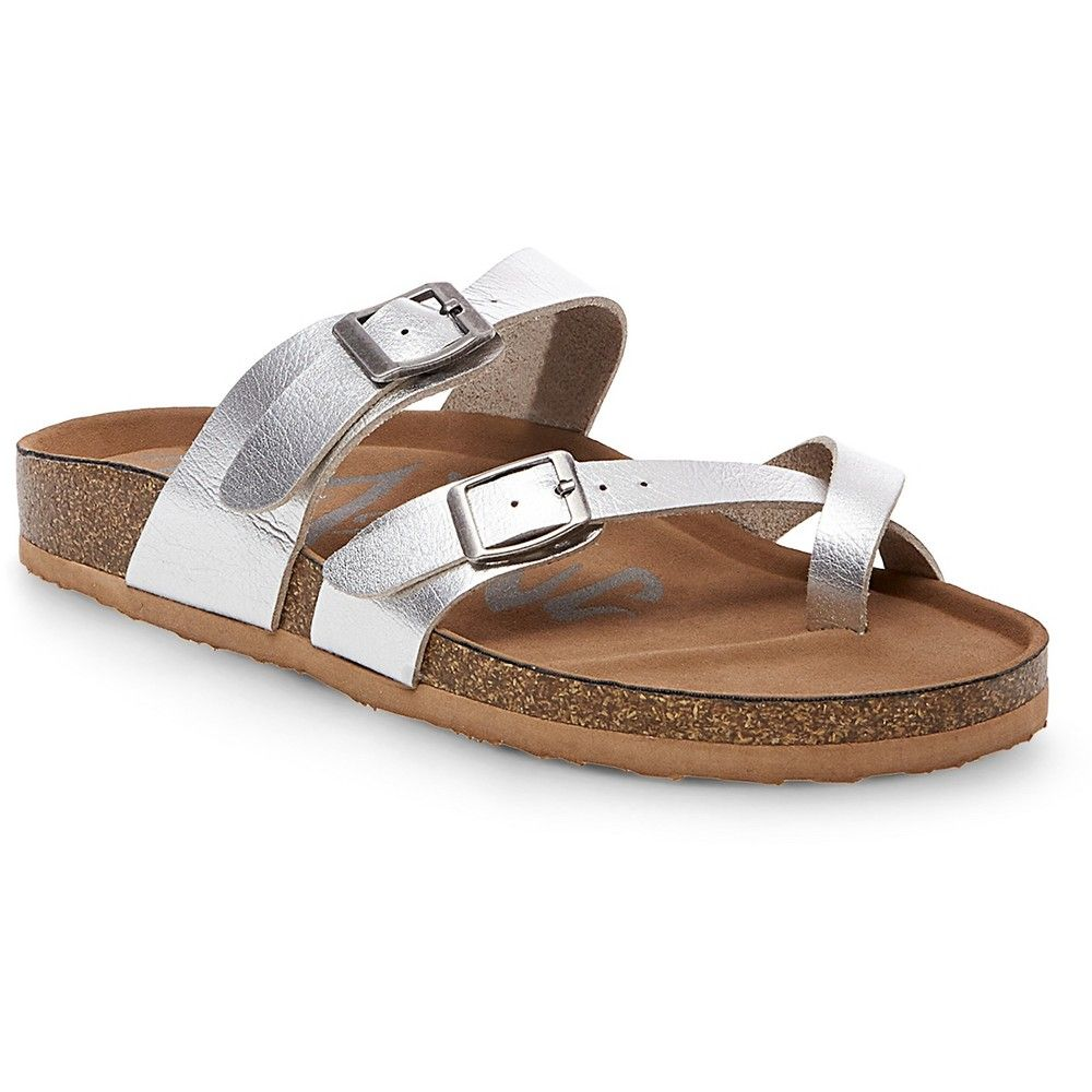 18ac5caec25 Women s Mad Love Prudence Footbed Sandals - Silver 6