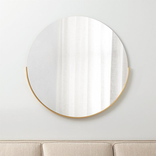 Gerald Large Round Wall Mirror In 2019 Reisling Large
