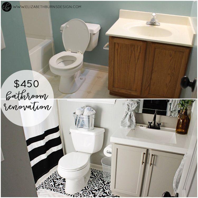 Photo of One Room Challenge   Guest Bathroom – Week 6: The Reveal — Elizabeth Burns Design, Raleigh NC Interior Designer