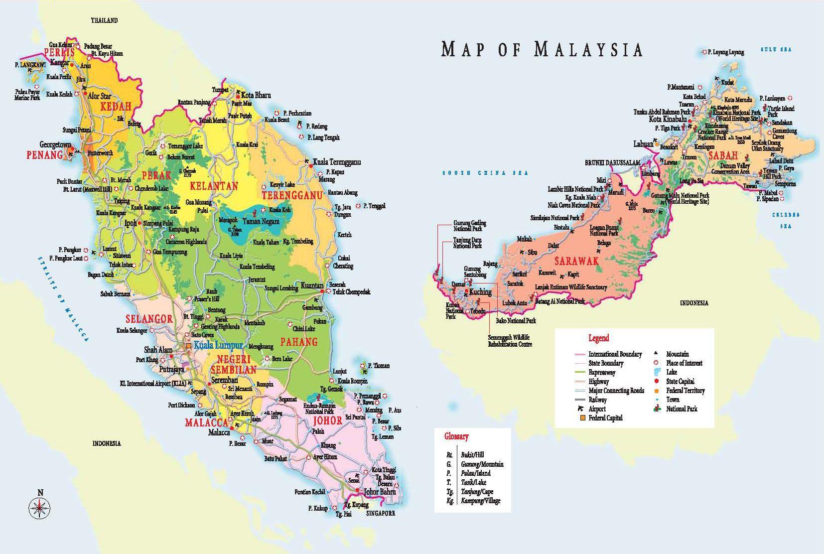 MALAYSIA MAPPA Home Malaysai Hotels Malaysia Hostels Travel - Malaysia map